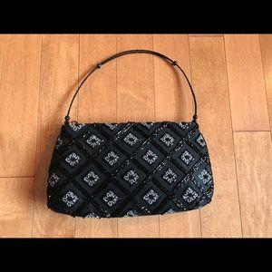Handbags - Black beaded silk bag